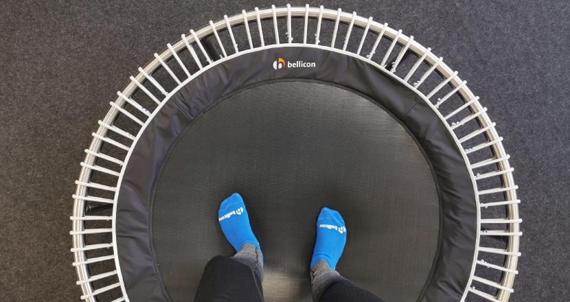 125cm Durchmesser, mittelgroße Sprungfläche