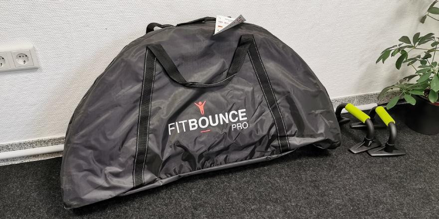 Aufbau vom Fit Bounce nicht nötig, Lieferung in Tasche